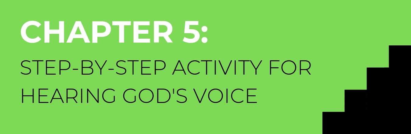An activity for hearing God Speak