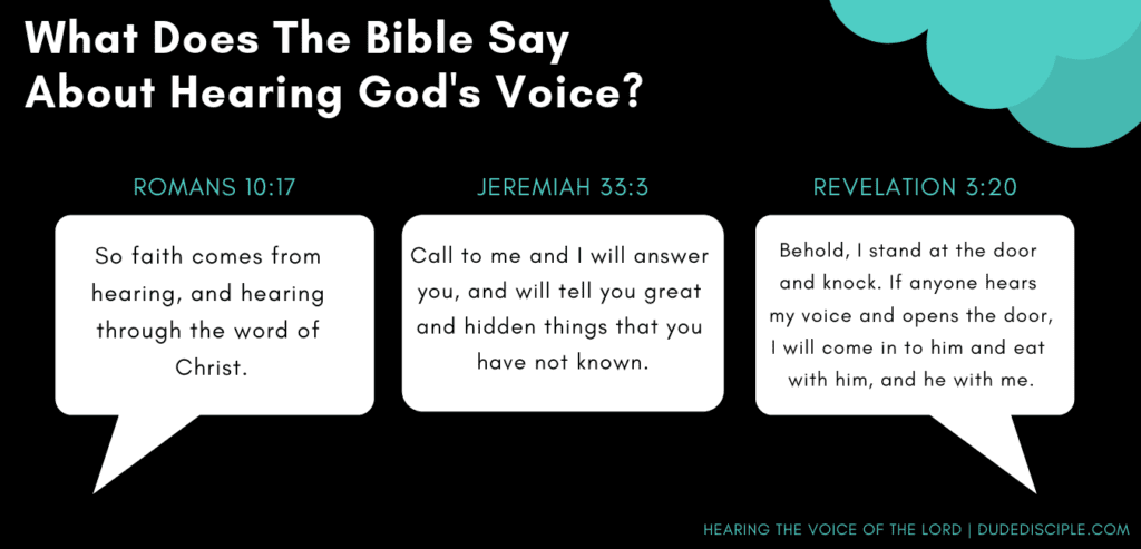 Scripture on hearing the voice of God