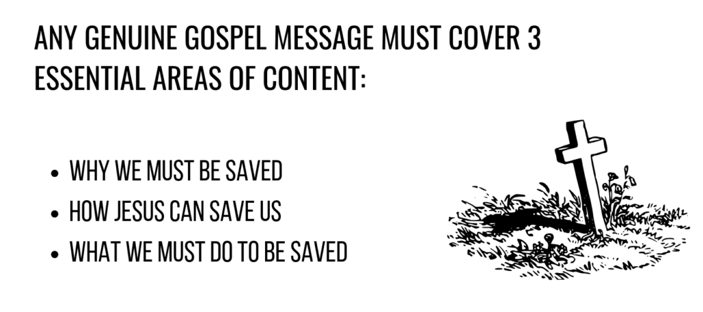 what every gospel message needs to include