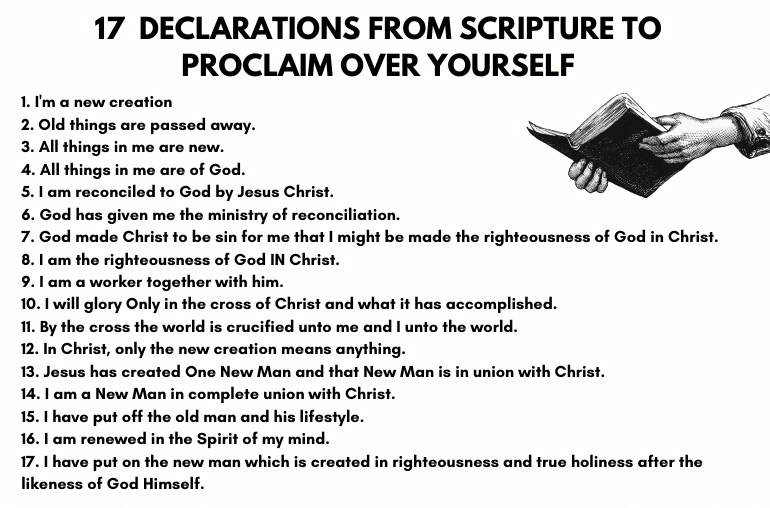 declarations from scripture to proclaim over yourself