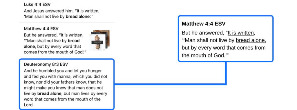 Cross referencing Bible verses