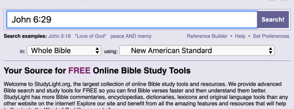How to use studylight to look up Greek and Hebrew words