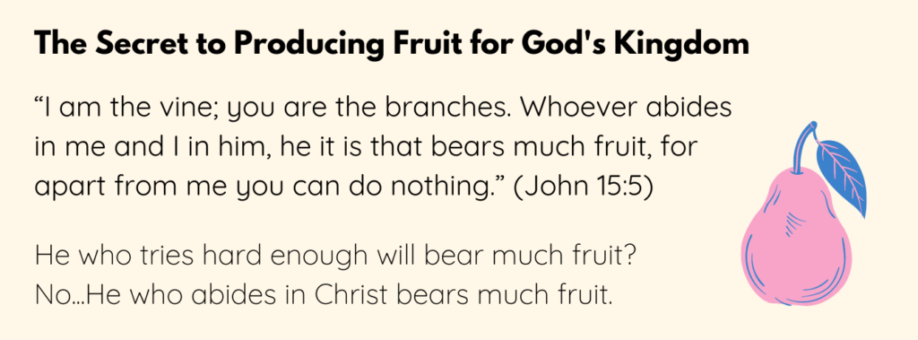 John 15:5 verse on bearing fruit