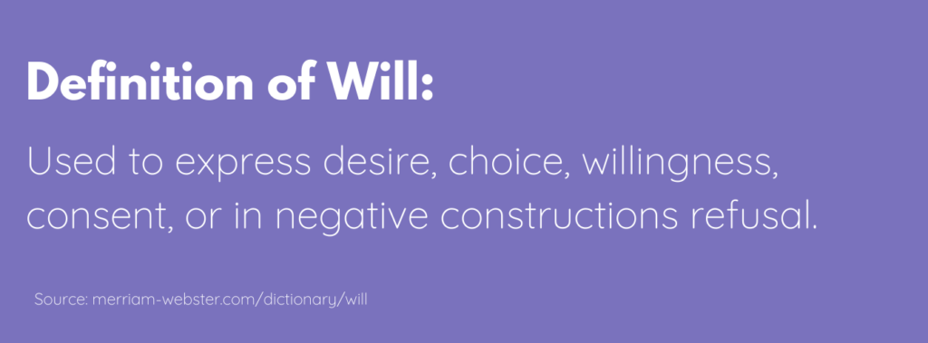 defining your will