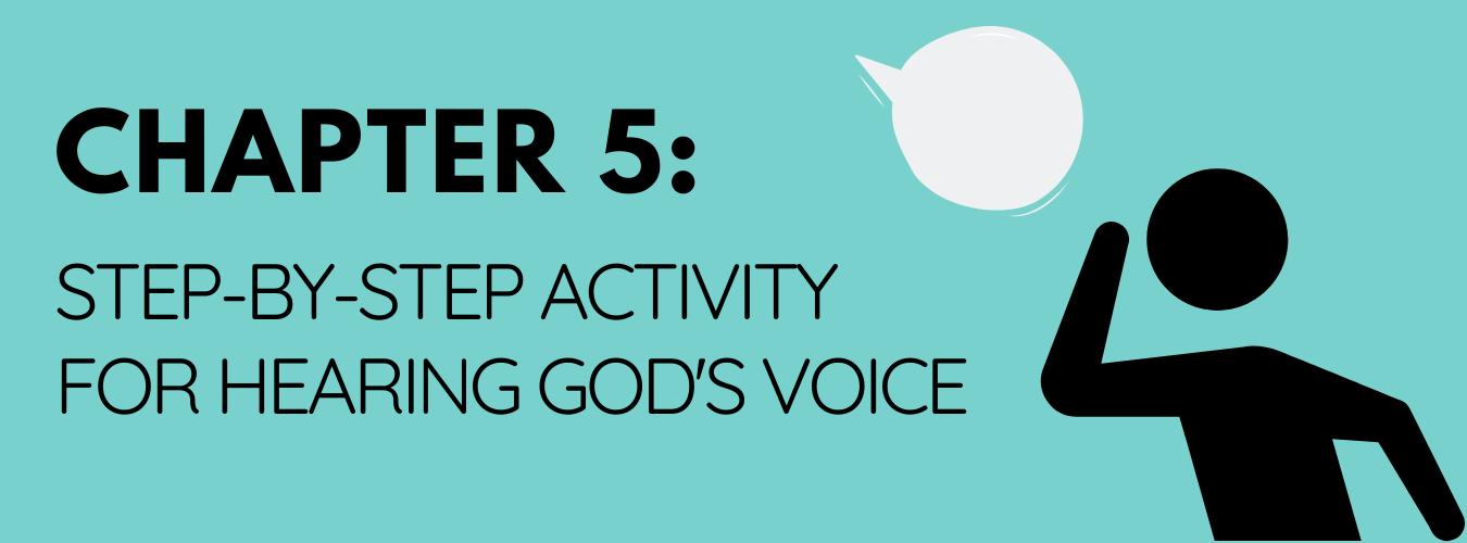 An activity for hearing God Speak